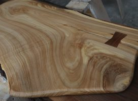 Coffee Table Elm with Bowtie